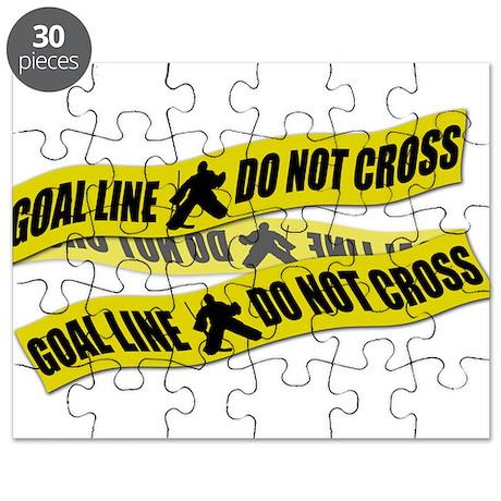 Hockey Crime Tape Puzzle