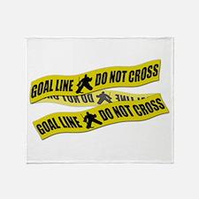 Hockey Crime Tape Throw Blanket