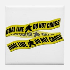 Hockey Crime Tape Tile Coaster