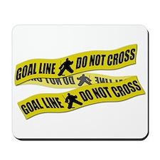 Hockey Crime Tape Mousepad