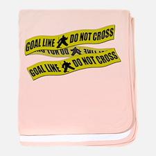 Hockey Crime Tape baby blanket