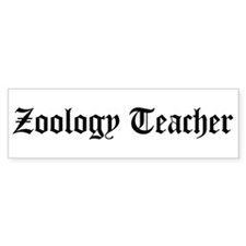 Zoology Teacher Bumper Bumper Sticker
