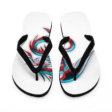 Elemental Dragon Flip Flops