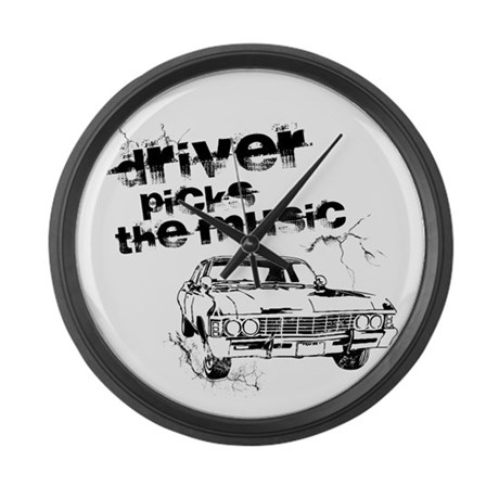 SUPERNATURAL Metallicar black Large Wall Clock