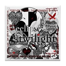 Must Have Twilight Collage by Twibaby Tile Coaster