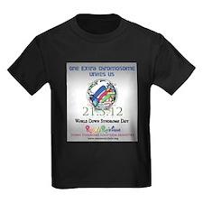 World Down Syndrome Day 2012 Kids Dark T-Shirt