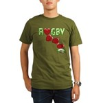 The Rugby Rush Organic Men's T-Shirt (dark)