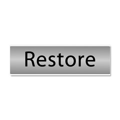 Go Restore! with this Car Magnet 10 x 3