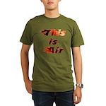 The On Fire Air Guitar Organic Men's T-Shirt (dark