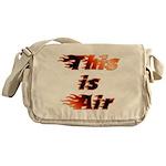 The On Fire Air Guitar Messenger Bag