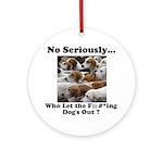Dog-Gone Foxy Ornament (Round)