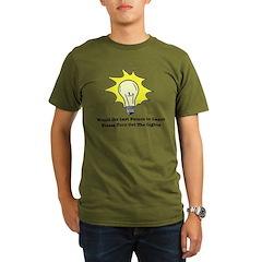 The Lights Out Organic Men's T-Shirt (dark)