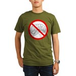 The No Brain Organic Men's T-Shirt (dark)