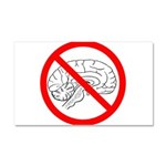 The No Brain Car Magnet 20 x 12