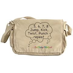 Twins Workout Under This Messenger Bag