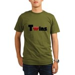 The Twins Organic Men's T-Shirt (dark)