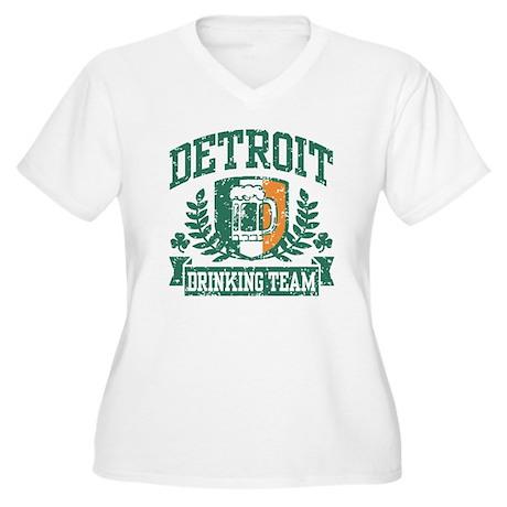 Detroit Irish Drinking Team Women's Plus Size V-Ne