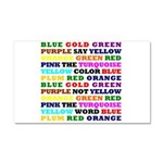 The Color Conundrum Car Magnet 20 x 12
