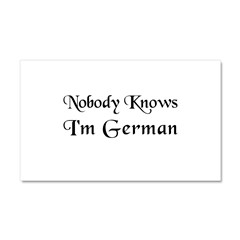 The German Car Magnet 20 x 12