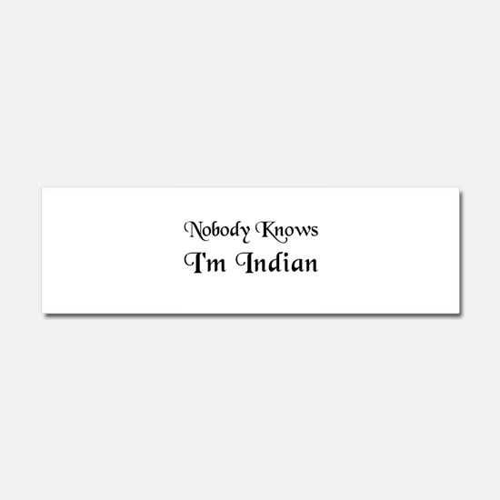 The Indian Car Magnet 10 x 3