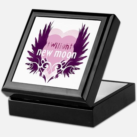 New Moon Pink Heart by Twibaby Keepsake Box