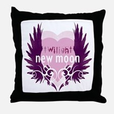 New Moon Pink Heart by Twibaby Throw Pillow