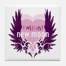 New Moon Pink Heart by Twibaby Tile Coaster