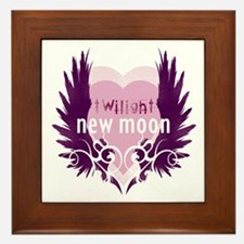 New Moon Pink Heart by Twibaby Framed Tile