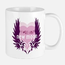 New Moon Pink Heart by Twibaby Mug