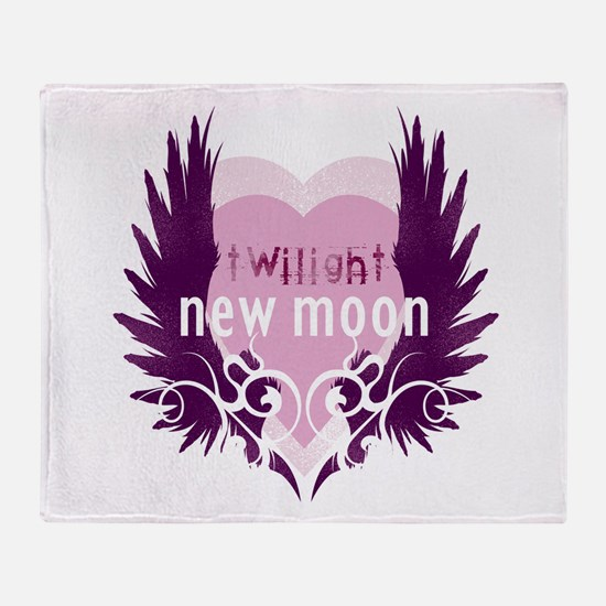 New Moon Pink Heart by Twibaby Throw Blanket