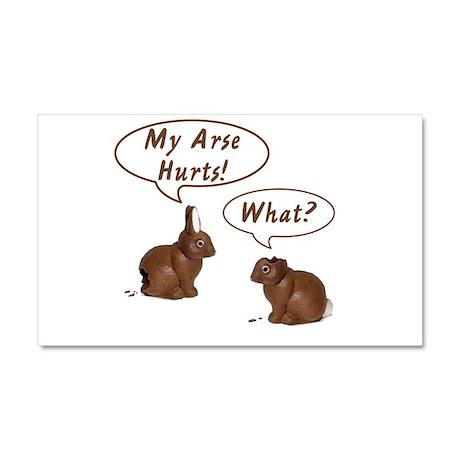 The Chocolate Bunny Car Magnet 20 x 12