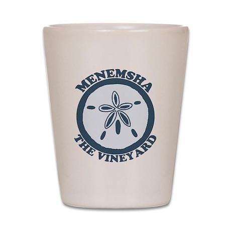 Menemsha MA - Sand Dollar Design. Shot Glass