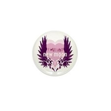 New Moon Pink Heart by Twibaby Mini Button (100 pa