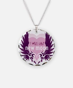 New Moon Pink Heart by Twibaby Necklace