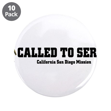 """California San Diego LDS Miss 3.5"""" Button (10 pack"""
