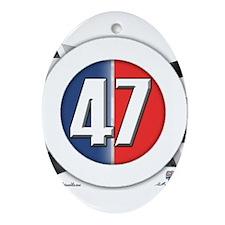 Round Logo 47 Ornament (Oval)