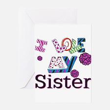 Cute Sister Greeting Card