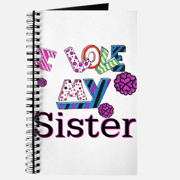 Cute I love my sister Journal