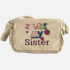 Cute I love my air force sister Messenger Bag