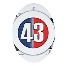 43 Cars Logo Ornament (Oval)