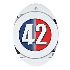 42 Cars Logo Ornament (Oval)