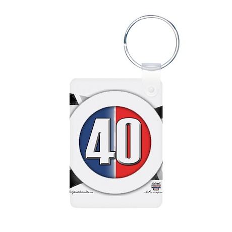 40 Cars logo Aluminum Photo Keychain