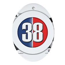 38 Cars Logo Ornament (Oval)