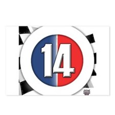 14 Cars logo Postcards (Package of 8)