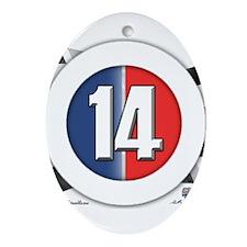 14 Cars logo Ornament (Oval)