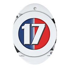 17 Cars Logo Ornament (Oval)