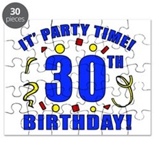 30th Birthday Party Time Puzzle