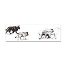 Cute Herd Car Magnet 10 x 3
