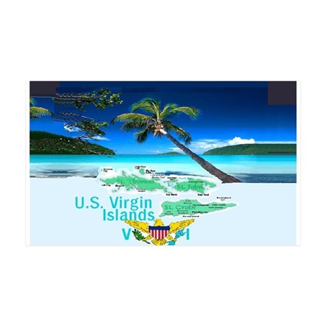 VIRGIN ISLANDS 38.5 x 24.5 Wall Peel