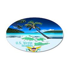VIRGIN ISLANDS 22x14 Oval Wall Peel